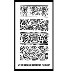 American National Elements Background vector