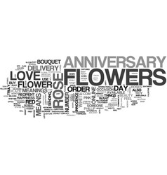 anniversary favors coffee or tea text word cloud vector image