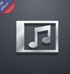 Audio MP3 file icon symbol 3D style Trendy modern vector