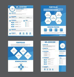 Blue Smart creative resume business profile CV vector