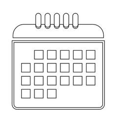 Calendar the black color icon vector