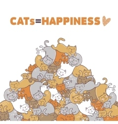 Cats are happiness vector