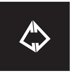 cc logo monogram with standout triangle shape vector image