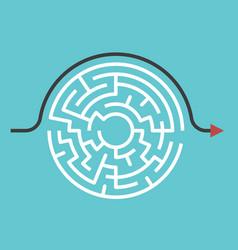 circular maze bypass route vector image