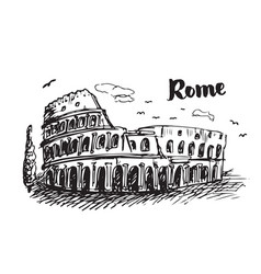 colosseum sketch vector image
