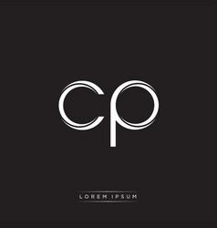 Cp initial letter split lowercase logo modern vector