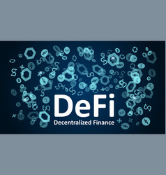 defi - decentralized finance with altcoin logos vector image
