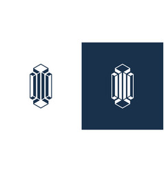 Elegant classy letter i logo in a prism shape the vector