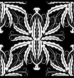 floral vintage seamless pattern monochrome vector image