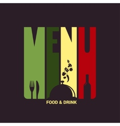 Food and drink menu label design background vector