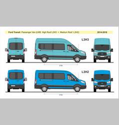 Ford transit passenger van l3h2 l3h3 2014-present vector