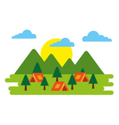 Forest outdoor camp vector