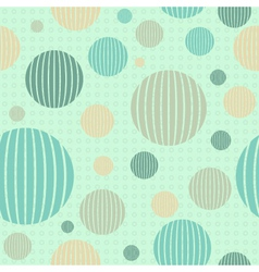 Geometrical seamless pattern with-circles vector image