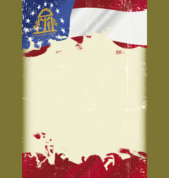 georgia flag grunge background vector image