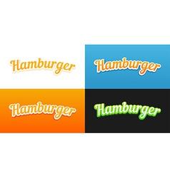Hamburger Captions vector image