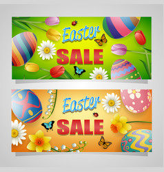 happy easter sale banner background vector image