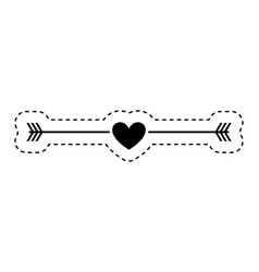 heart love card icon vector image