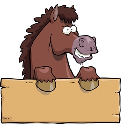 Horse head with a board vector