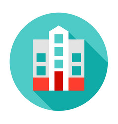 Hospital building circle icon vector