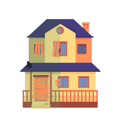 house renovation before after repair work vector image