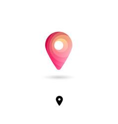 icon map marker web pin symbol navigation vector image