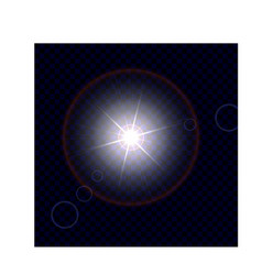 Isolated object glare from vector