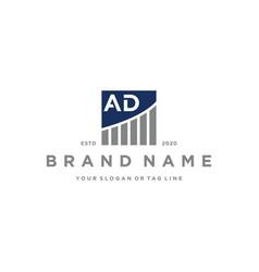 Letter ad chart financial logo design vector