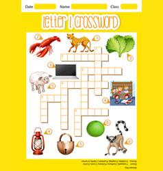 Letter l crossword concept vector