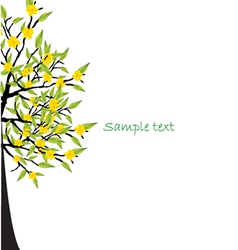 Lone full lemon tree vector