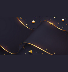 luxurious wave paper background vector image