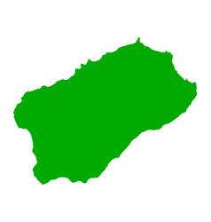 Map of santo antao vector