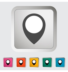 Map pin single icon vector image