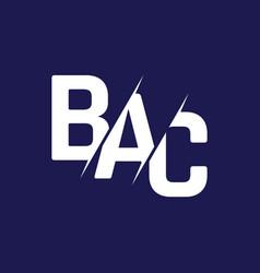 Monogram letters initial logo design bac vector