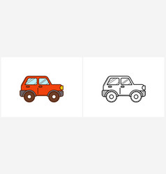offroad car coloring page 4wd car side view vector image