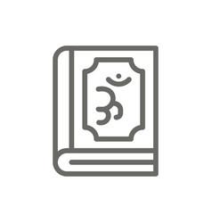 Om book symbol icon spiritual concept vector