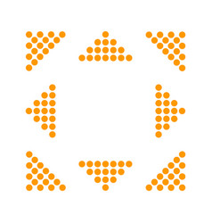 orange arrows in 8eight different directions vector image