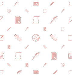 pen icons pattern seamless white background vector image
