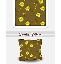 Pillow Green Floral Pattern vector