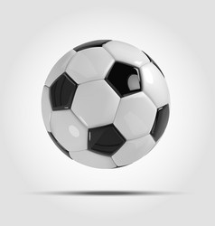 realistic soccer ball or football ball on light vector image