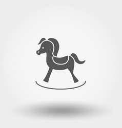 rocking horse toy icon vector image