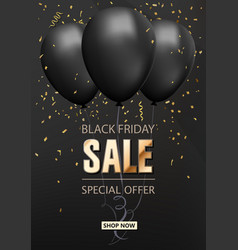 sale shop background with golden confetti vector image