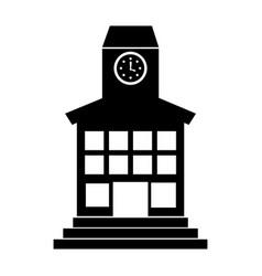 School building front icon vector