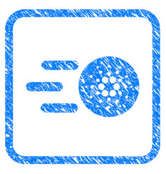 send cardano framed stamp vector image