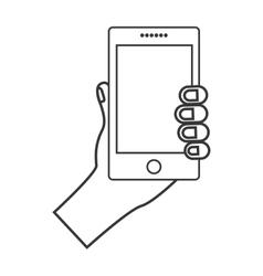 smartphone device icon vector image