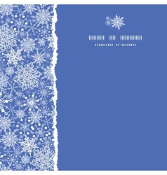 Snowflake Texture Square Torn Seamless Pattern vector image
