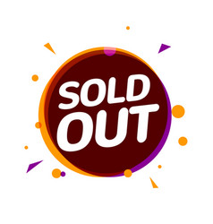 sold out banner tag soldout sign isolated label vector image