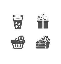 Special offer delete order and ice tea icons vector