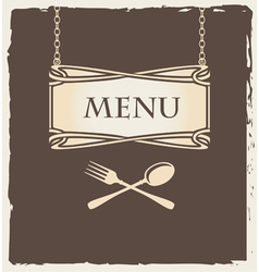 spoon menu vector image vector image