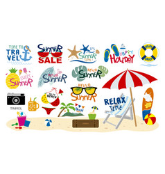 summer beach travel tropical and holiday design vector image