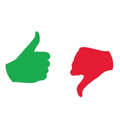 Thumb up thumb down color icon vector